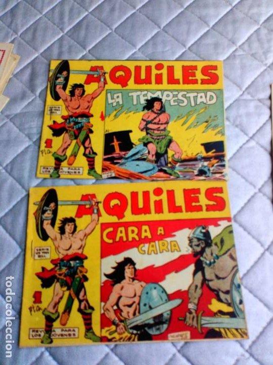 Tebeos: Aquiles.Lote de 11 Tebeos.ORIGINALES MAGA año 1962 están el Nº 1-2-3... RAROS Y MUY DIFÍCILES - Foto 7 - 225182180