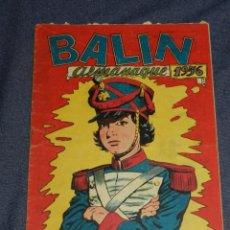 Tebeos: (M1) BALIN ALMANAQUE 1956 - JOSE ORTIZ, EDITORIAL MAGA, 17X24CM, SEÑALES DE USO. Lote 225263671