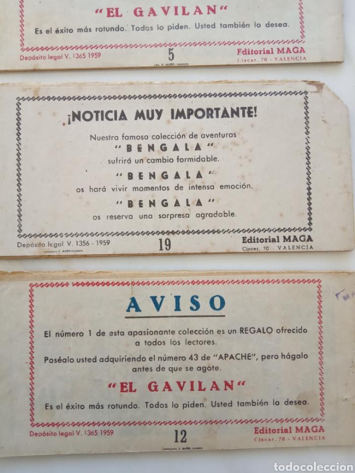 """Tebeos: Lote seis comics """"el gavilan"""" 1, 3, 4, 5, 12, 19 - Foto 5 - 226052655"""