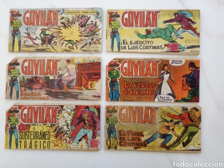"""LOTE SEIS COMICS """"EL GAVILAN"""" 1, 3, 4, 5, 12, 19 (Tebeos y Comics - Maga - Otros)"""