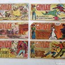 "Tebeos: LOTE SEIS COMICS ""EL GAVILAN"" 1, 3, 4, 5, 12, 19. Lote 226052655"