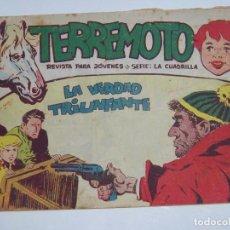 Tebeos: MAGA TERREMOTO SERIE LA CUADRILLA ORIGINAL Nº 25. Lote 226919050