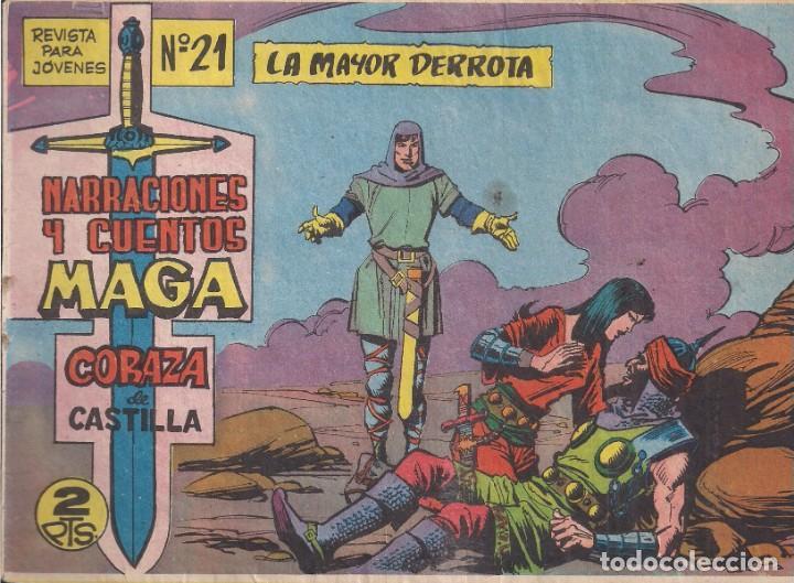 CORAZA DE CASTILLA Nº 21: LA MAYOR DERROTA (Tebeos y Comics - Maga - Otros)