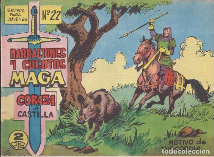 CORAZA DE CASTILLA Nº 22: MOTIVO DE DISCORDIA (Tebeos y Comics - Maga - Otros)