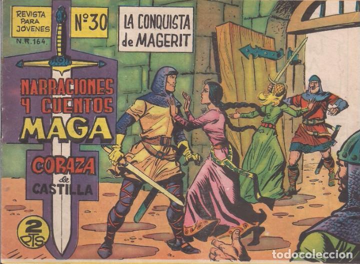 CORAZA DE CASTILLA Nº 30: LA CONQUISTA DE MAGERIT (Tebeos y Comics - Maga - Otros)