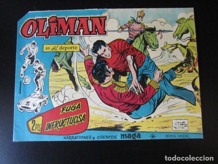 OLIMAN (1961, MAGA) 62 · 25-IV-1962 · FUGA INFRUCTUOSA (Tebeos y Comics - Maga - Otros)