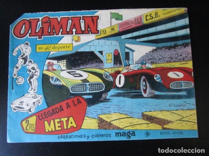 OLIMAN (1961, MAGA) 68 · 6-VI-1962 · LLEGADA A LA META (Tebeos y Comics - Maga - Otros)