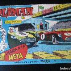 Tebeos: OLIMAN (1961, MAGA) 68 · 6-VI-1962 · LLEGADA A LA META. Lote 231834125