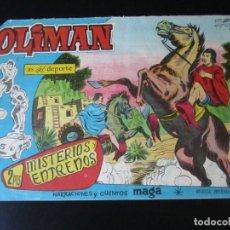 Tebeos: OLIMAN (1961, MAGA) 61 · 18-IV-1962 · MISTERIOS Y ENTRENOS. Lote 231835330