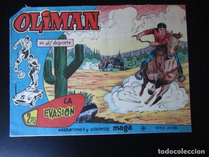 OLIMAN (1961, MAGA) 64 · 9-V-1962 · LA EVASION (Tebeos y Comics - Maga - Oliman)