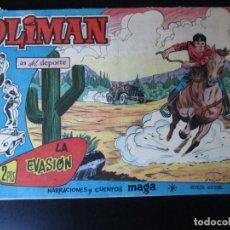 Tebeos: OLIMAN (1961, MAGA) 64 · 9-V-1962 · LA EVASION. Lote 232642625