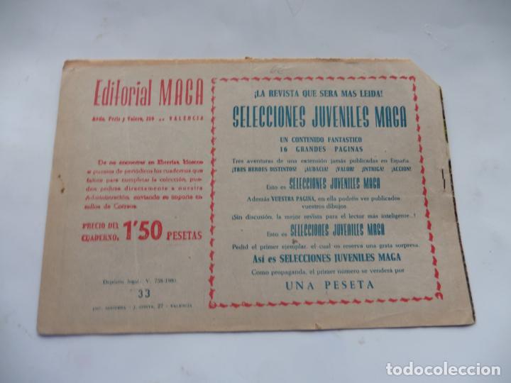 Tebeos: RAYO DE LA SELVA Nº33 MAGA ORIGINAL - Foto 2 - 232716255