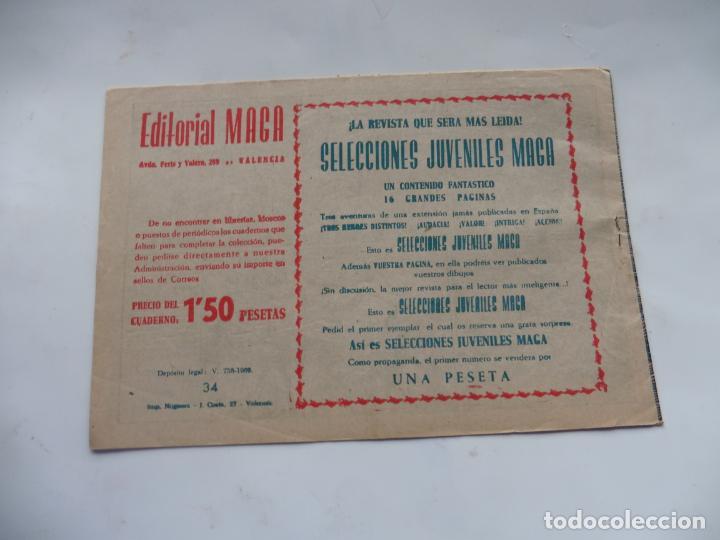 Tebeos: RAYO DE LA SELVA Nº34 MAGA ORIGINAL - Foto 2 - 232716465