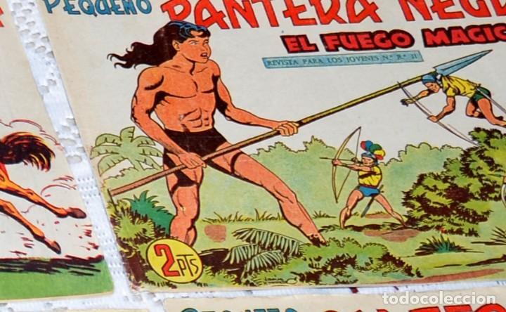Tebeos: LOTE DE 51 CUADERNOS ORIGINALES DE LA SERIE PEQUEÑO PANTERA NEGRA MAGA (LEER DESCRIPCIÓN) - Foto 3 - 233360375