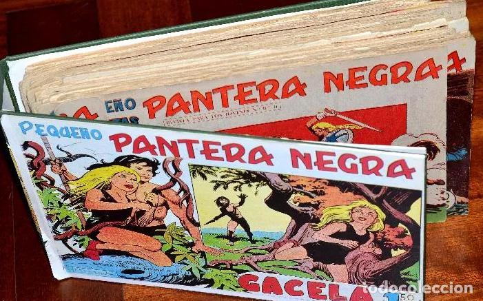 LOTE DE 51 CUADERNOS ORIGINALES DE LA SERIE PEQUEÑO PANTERA NEGRA MAGA (LEER DESCRIPCIÓN) (Tebeos y Comics - Maga - Pantera Negra)