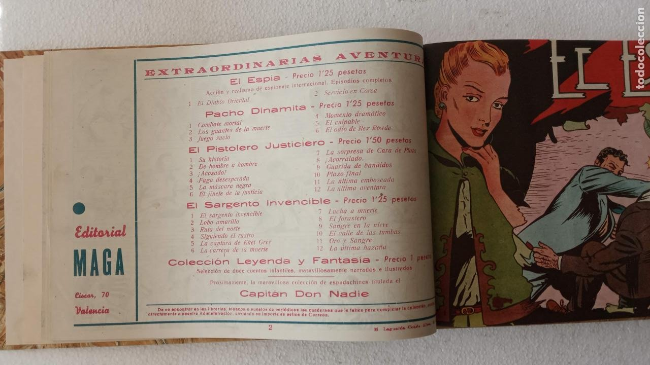 Tebeos: EL ESPÍA ORIGINAL 1952 MAGA COMPLETA, POR JOSÉ ORTIZ, VICENTE RAMOS ETC. - Foto 10 - 233836050