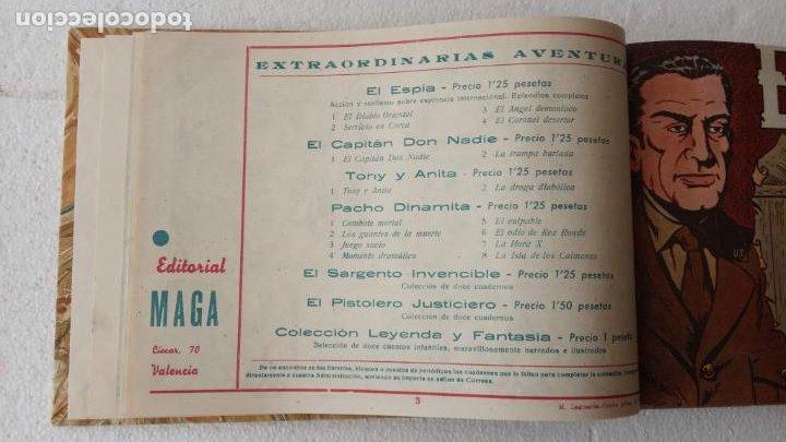 Tebeos: EL ESPÍA ORIGINAL 1952 MAGA COMPLETA, POR JOSÉ ORTIZ, VICENTE RAMOS ETC. - Foto 13 - 233836050