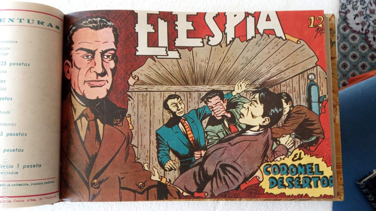 Tebeos: EL ESPÍA ORIGINAL 1952 MAGA COMPLETA, POR JOSÉ ORTIZ, VICENTE RAMOS ETC. - Foto 15 - 233836050