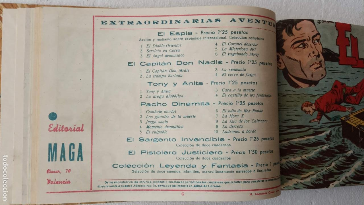 Tebeos: EL ESPÍA ORIGINAL 1952 MAGA COMPLETA, POR JOSÉ ORTIZ, VICENTE RAMOS ETC. - Foto 26 - 233836050
