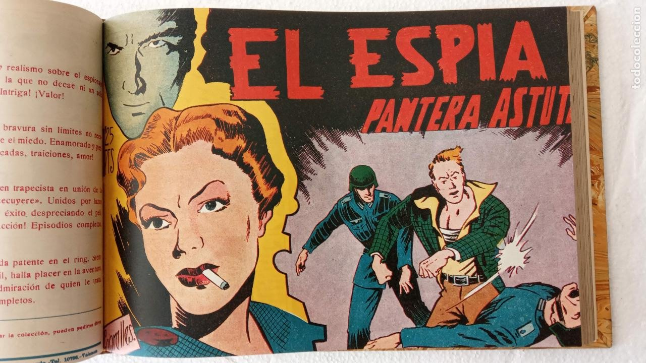 Tebeos: EL ESPÍA ORIGINAL 1952 MAGA COMPLETA, POR JOSÉ ORTIZ, VICENTE RAMOS ETC. - Foto 37 - 233836050