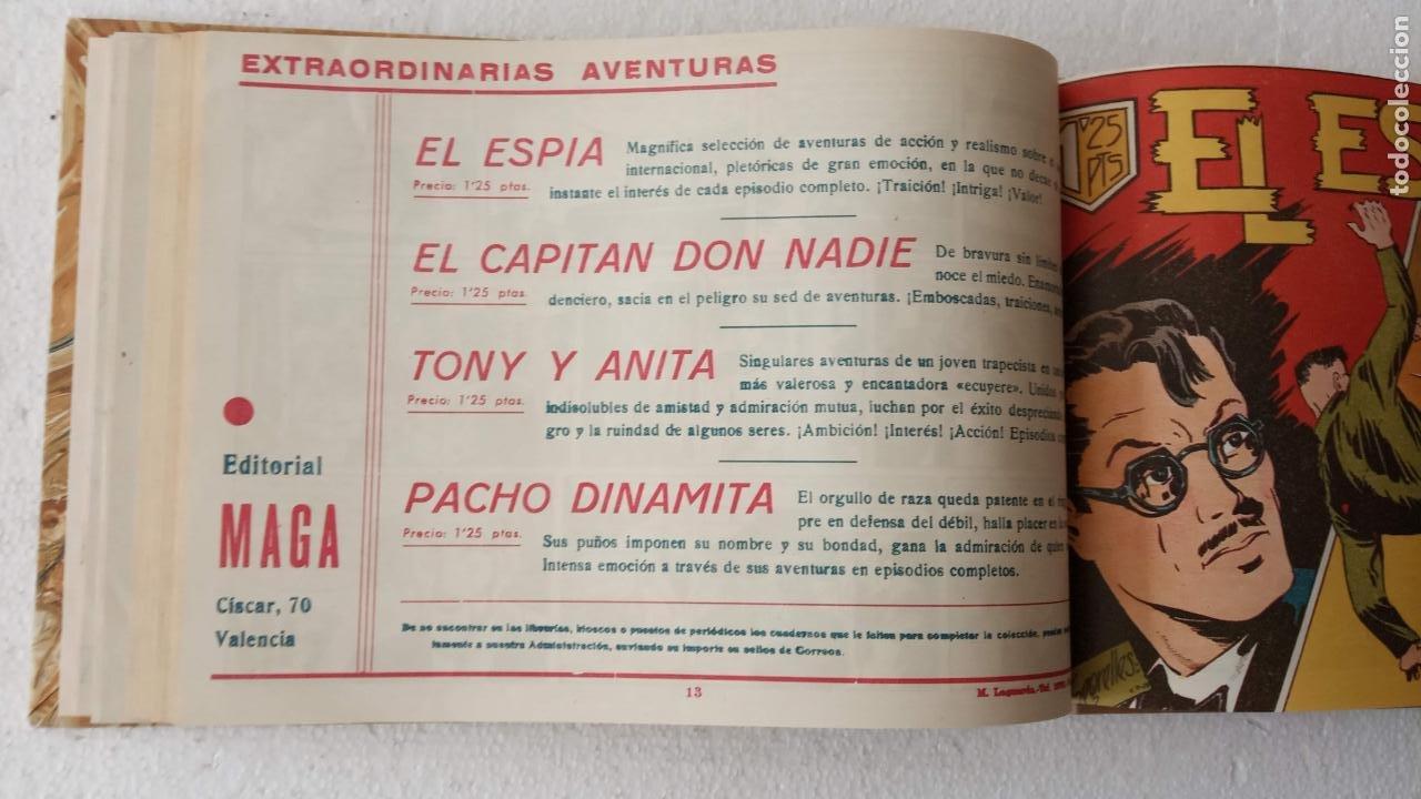 Tebeos: EL ESPÍA ORIGINAL 1952 MAGA COMPLETA, POR JOSÉ ORTIZ, VICENTE RAMOS ETC. - Foto 48 - 233836050