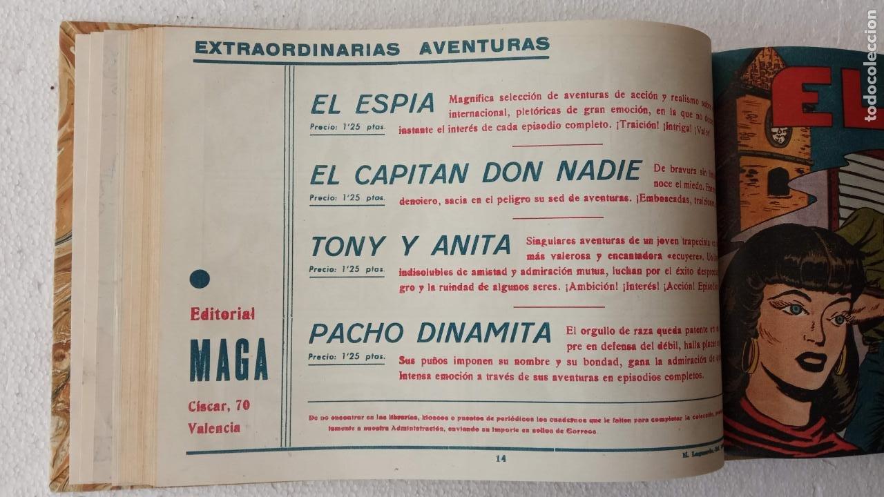 Tebeos: EL ESPÍA ORIGINAL 1952 MAGA COMPLETA, POR JOSÉ ORTIZ, VICENTE RAMOS ETC. - Foto 50 - 233836050
