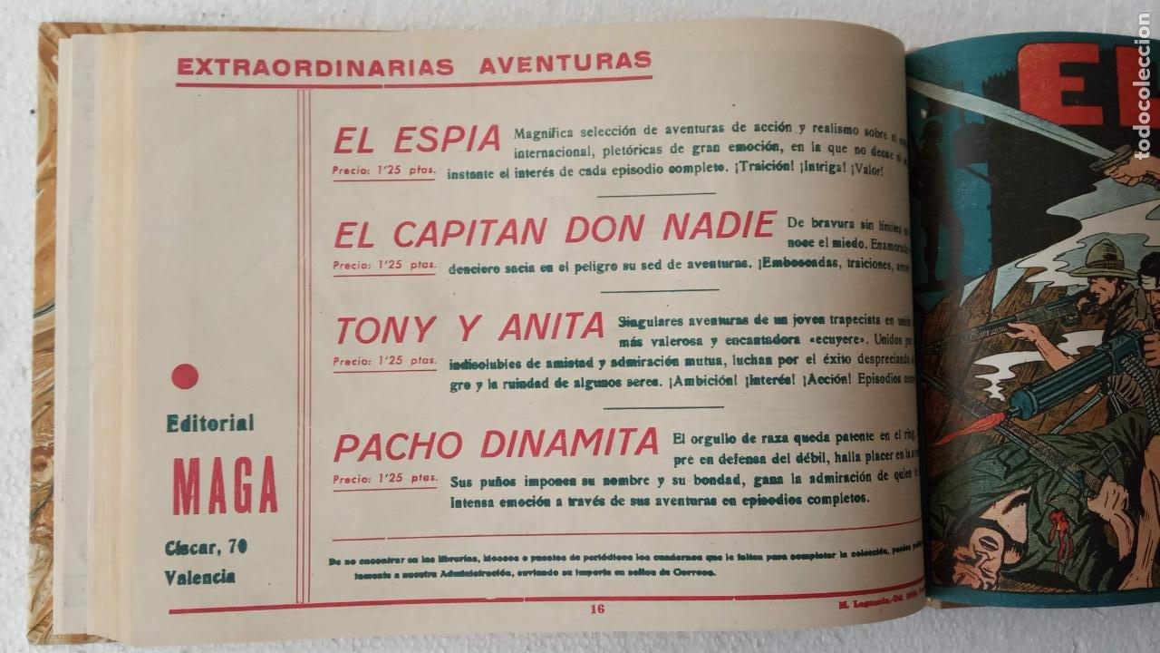Tebeos: EL ESPÍA ORIGINAL 1952 MAGA COMPLETA, POR JOSÉ ORTIZ, VICENTE RAMOS ETC. - Foto 58 - 233836050