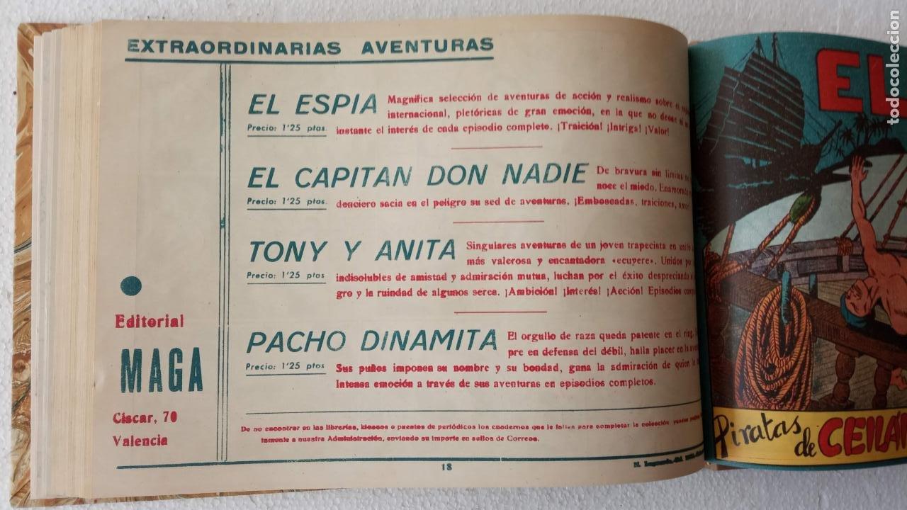 Tebeos: EL ESPÍA ORIGINAL 1952 MAGA COMPLETA, POR JOSÉ ORTIZ, VICENTE RAMOS ETC. - Foto 62 - 233836050