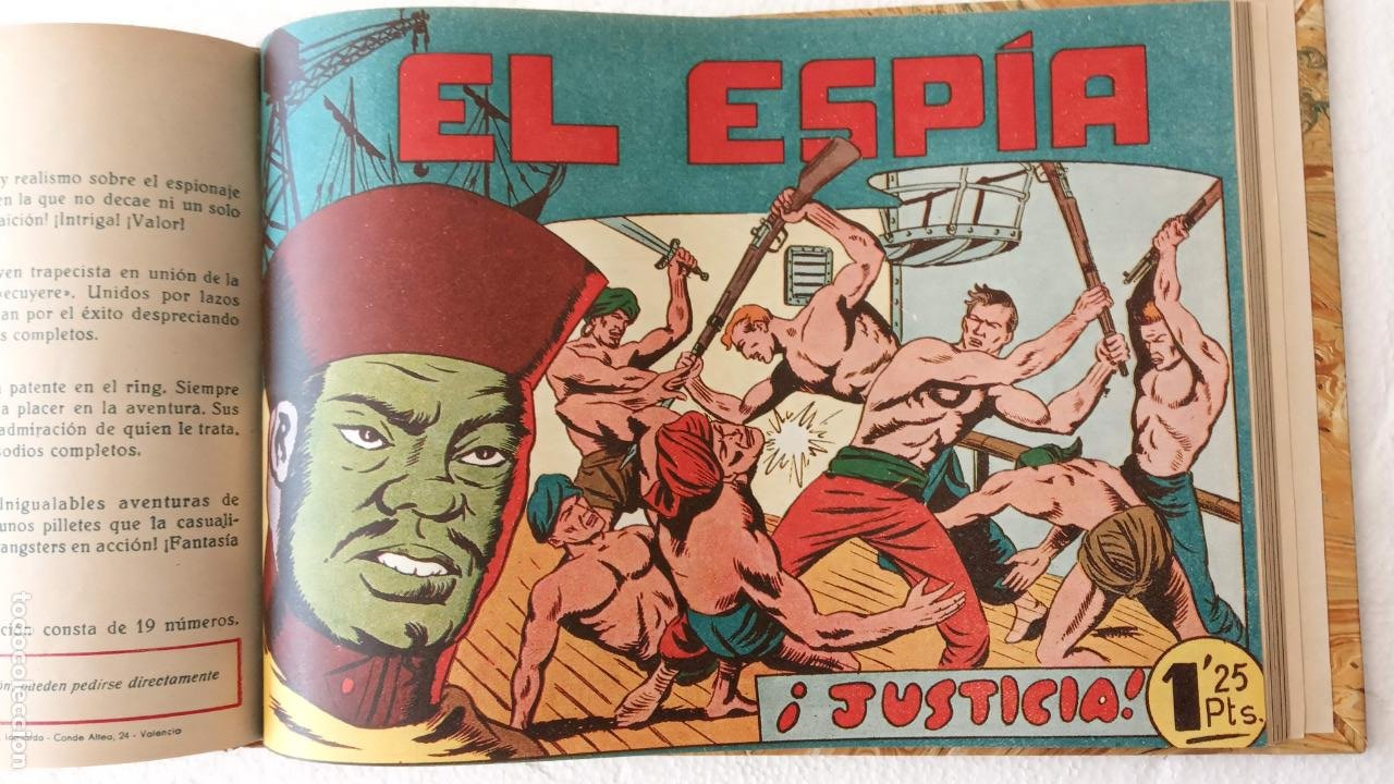 Tebeos: EL ESPÍA ORIGINAL 1952 MAGA COMPLETA, POR JOSÉ ORTIZ, VICENTE RAMOS ETC. - Foto 69 - 233836050