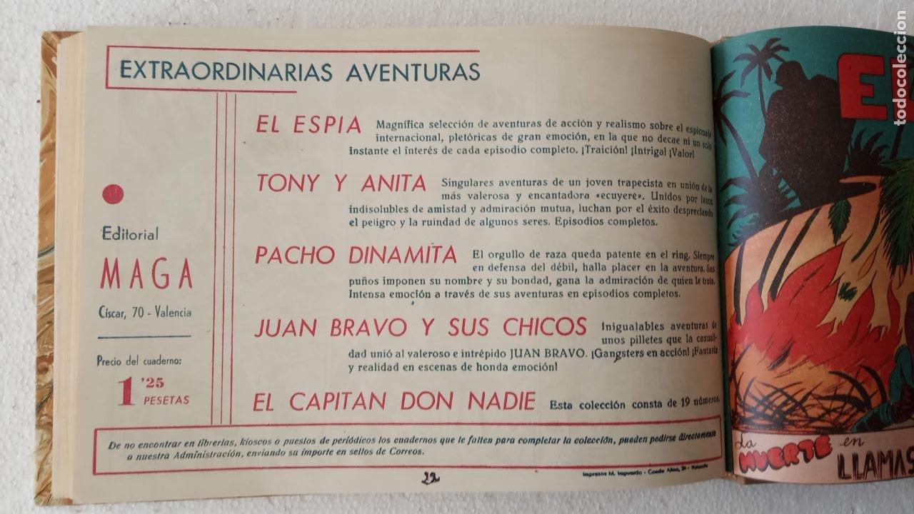 Tebeos: EL ESPÍA ORIGINAL 1952 MAGA COMPLETA, POR JOSÉ ORTIZ, VICENTE RAMOS ETC. - Foto 75 - 233836050