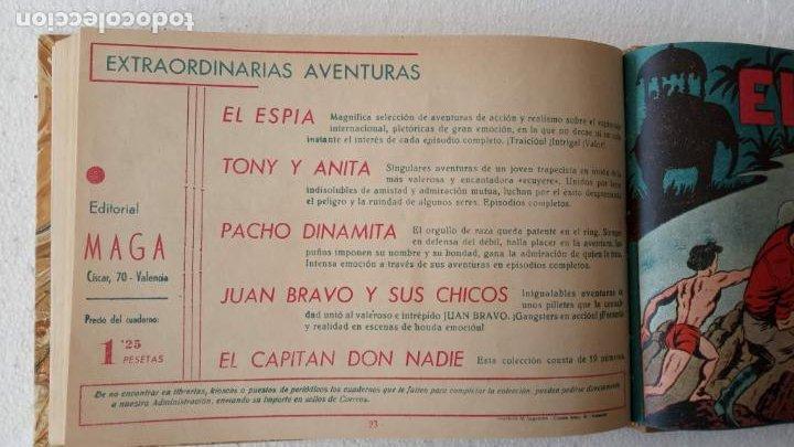 Tebeos: EL ESPÍA ORIGINAL 1952 MAGA COMPLETA, POR JOSÉ ORTIZ, VICENTE RAMOS ETC. - Foto 78 - 233836050