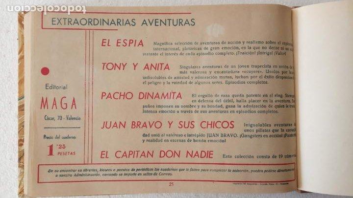 Tebeos: EL ESPÍA ORIGINAL 1952 MAGA COMPLETA, POR JOSÉ ORTIZ, VICENTE RAMOS ETC. - Foto 85 - 233836050
