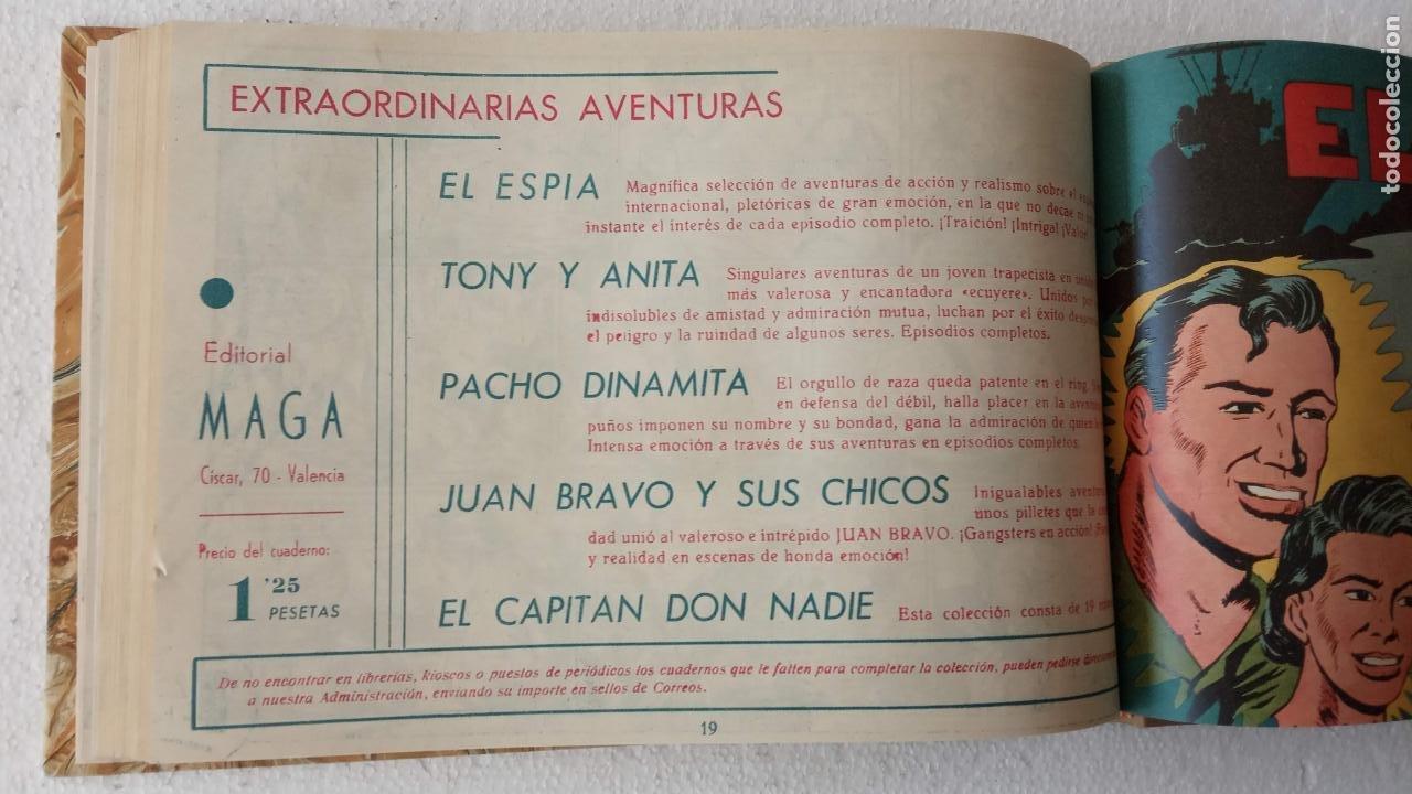 Tebeos: EL ESPÍA ORIGINAL 1952 MAGA COMPLETA, POR JOSÉ ORTIZ, VICENTE RAMOS ETC. - Foto 86 - 233836050