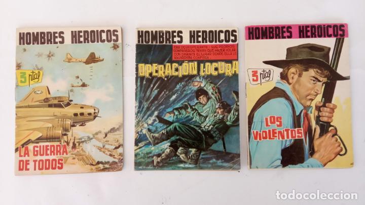 HOMBRES HERÓICOS EDI. MAGA 1962 - 16 X 12 CMS. NºS 4,7,8 (Tebeos y Comics - Maga - Otros)