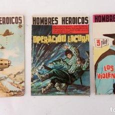 Tebeos: HOMBRES HERÓICOS EDI. MAGA 1962 - 16 X 12 CMS. NºS 4,7,8. Lote 233930650