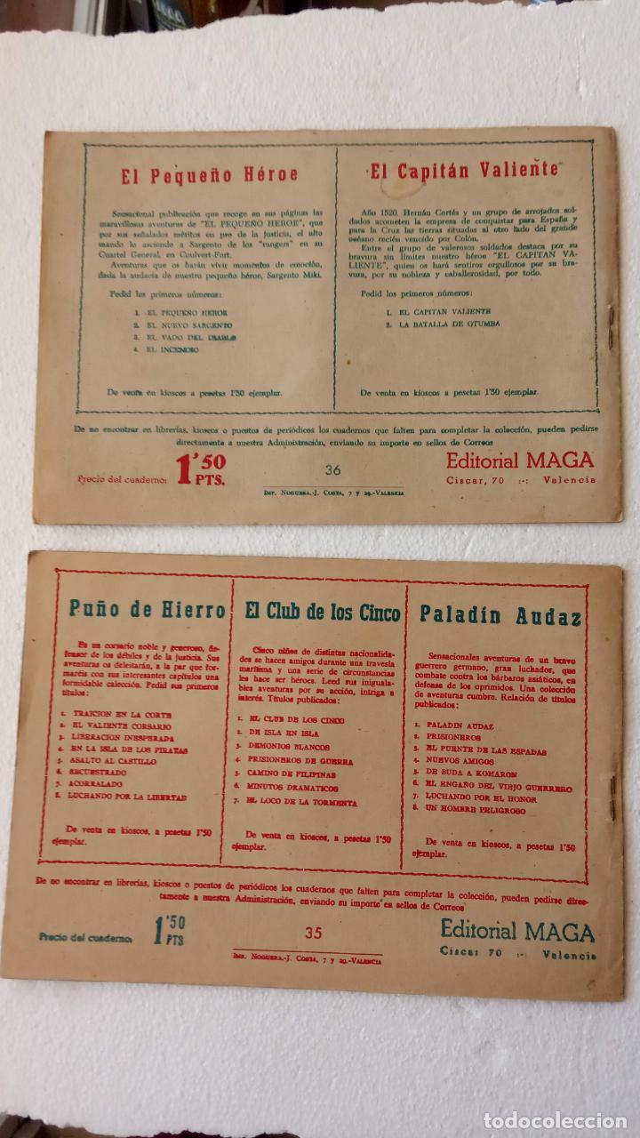 Tebeos: EL DEFENSOR DE LA CRUZ ORIGINAL - MAGA 1956 -32 NºS, 54,52,51,49,47,45, 33 A 40, 19 A 31, 15,14,6,5 - Foto 22 - 233984545