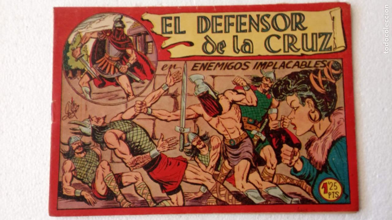 Tebeos: EL DEFENSOR DE LA CRUZ ORIGINAL - MAGA 1956 -32 NºS, 54,52,51,49,47,45, 33 A 40, 19 A 31, 15,14,6,5 - Foto 31 - 233984545
