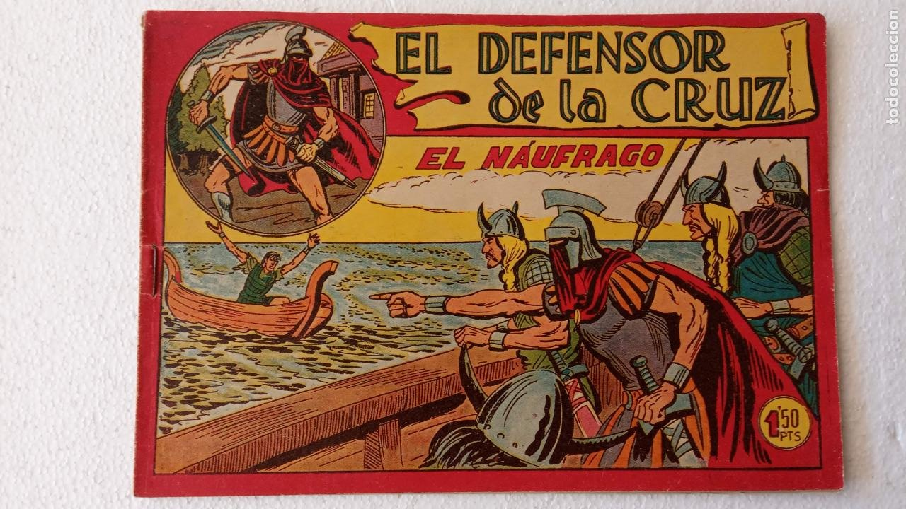 Tebeos: EL DEFENSOR DE LA CRUZ ORIGINAL - MAGA 1956 -32 NºS, 54,52,51,49,47,45, 33 A 40, 19 A 31, 15,14,6,5 - Foto 40 - 233984545