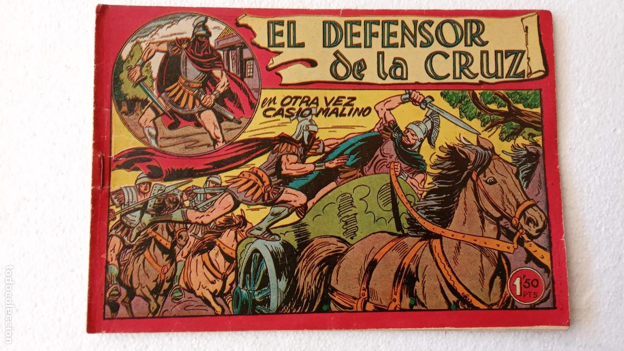 Tebeos: EL DEFENSOR DE LA CRUZ ORIGINAL - MAGA 1956 -32 NºS, 54,52,51,49,47,45, 33 A 40, 19 A 31, 15,14,6,5 - Foto 42 - 233984545
