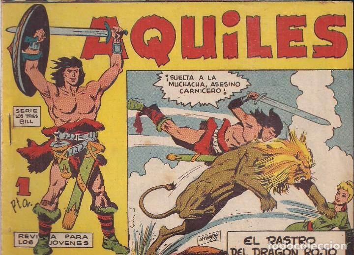 AQUILES Nº 3: EL RASTRO DEL DRAGÓN ROJO (Tebeos y Comics - Maga - Otros)