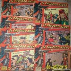 Tebeos: EL CRUZADO NEGRO (MAGA) LOTE CON 7 NUMEROS DIFERENTES. Lote 235540975