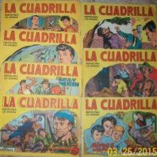 Tebeos: LA CUADRILLA (MAGA) LOTE DE 7 NUMEROS. Lote 236224375