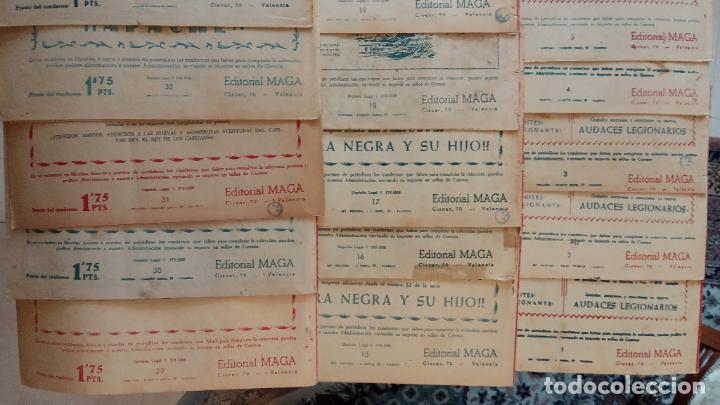 Tebeos: AUDACES LEGIONARIOS-CAPITÁN REY COMPLETA ORIGINAL 1958 MAGA -VER TODAS LAS PORTADAS - LEOPOLDO ORTÍZ - Foto 5 - 236460170