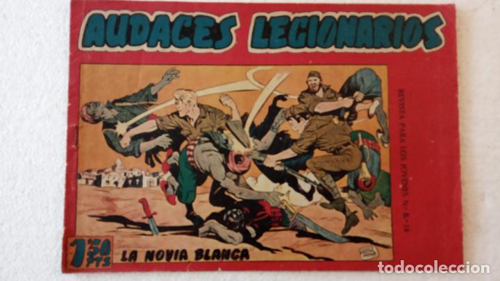 Tebeos: AUDACES LEGIONARIOS-CAPITÁN REY COMPLETA ORIGINAL 1958 MAGA -VER TODAS LAS PORTADAS - LEOPOLDO ORTÍZ - Foto 8 - 236460170