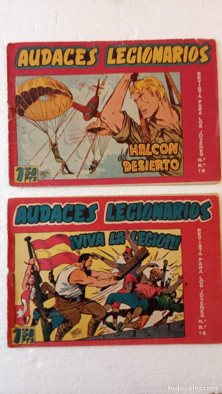 Tebeos: AUDACES LEGIONARIOS-CAPITÁN REY COMPLETA ORIGINAL 1958 MAGA -VER TODAS LAS PORTADAS - LEOPOLDO ORTÍZ - Foto 10 - 236460170