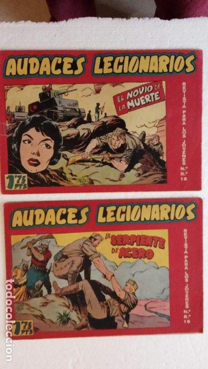 Tebeos: AUDACES LEGIONARIOS-CAPITÁN REY COMPLETA ORIGINAL 1958 MAGA -VER TODAS LAS PORTADAS - LEOPOLDO ORTÍZ - Foto 12 - 236460170