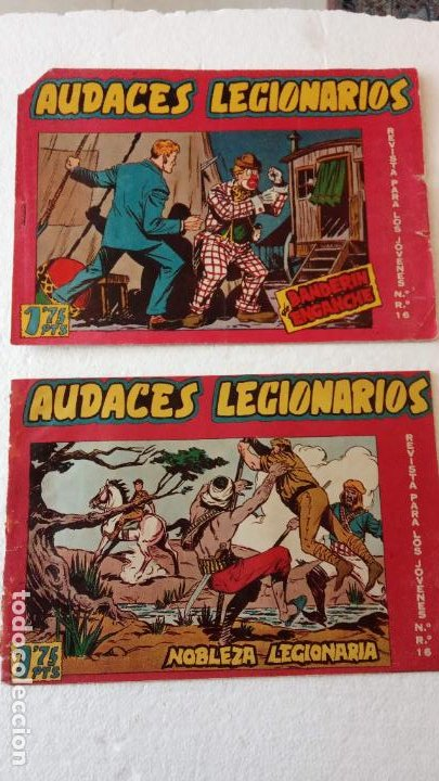 Tebeos: AUDACES LEGIONARIOS-CAPITÁN REY COMPLETA ORIGINAL 1958 MAGA -VER TODAS LAS PORTADAS - LEOPOLDO ORTÍZ - Foto 24 - 236460170