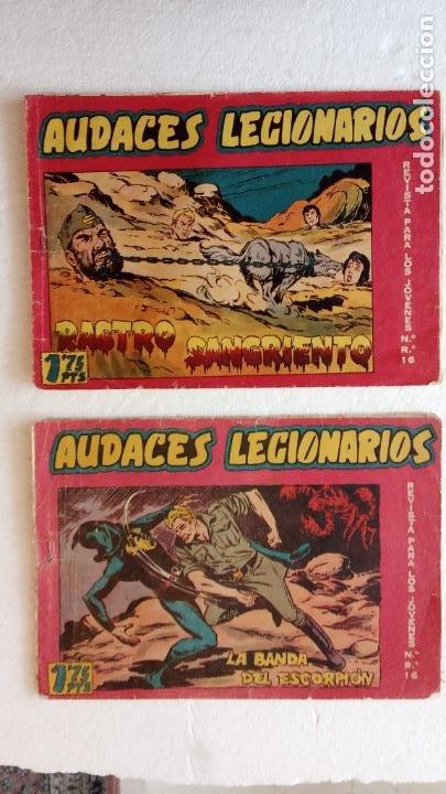 Tebeos: AUDACES LEGIONARIOS-CAPITÁN REY COMPLETA ORIGINAL 1958 MAGA -VER TODAS LAS PORTADAS - LEOPOLDO ORTÍZ - Foto 30 - 236460170