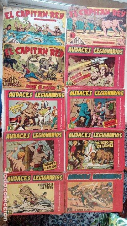 AUDACES LEGIONARIOS-CAPITÁN REY COMPLETA ORIGINAL 1958 MAGA -VER TODAS LAS PORTADAS - LEOPOLDO ORTÍZ (Tebeos y Comics - Maga - Otros)