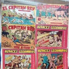 Tebeos: AUDACES LEGIONARIOS-CAPITÁN REY COMPLETA ORIGINAL 1958 MAGA -VER TODAS LAS PORTADAS - LEOPOLDO ORTÍZ. Lote 236460170